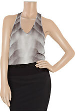 HELMUT LANG GREY GRADIENT TWISTED TANK TEE T-SHIRT SMALL