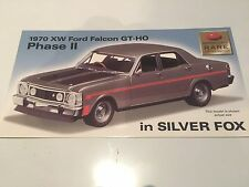 Trax Model Ford Falcon XW GTHO Phase II SILVER FOX 1:24 Scale Model.PROMO CARD