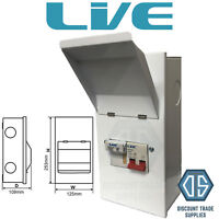 Live Metal Clad Fused Isolator Switch MCFS100 SP&N 100 Amp Single Phase Free P&P