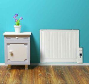 Panel Heater Radiator Wall Mounted Oil Filled Digital Slim Electric Portbl 800W