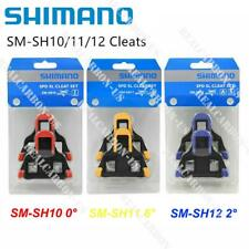 Shimano SM-SH10/11/12 Fixed Cleats Set 0/2/6° Float SPD-SL for Bike Pedals 01A