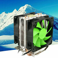 Hot Silent Dual CPU Cooler Heatsink For Intel LGA775/1156 AMD AM2+/AM3/AM4 Ryzen