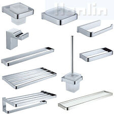Bathroom Accessories Wall Mounted Towel Bar Rack Roll Holder Chrome High Quality