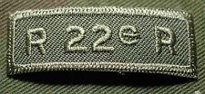 """CANADIAN ARMY COMBAT TAB UNIT BADGE INSIGNIA """"R 22e R"""" VANDOOS 4 FOR $1 MIX & MA"""