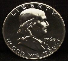 1963-P Silver Proof Franklin Half - Beautiful Coin!