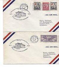 1931 US FFC Cover Lot of 2 CAM 20, Nashville, TN to Memphis & Little Rock, AK*