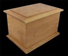 Engraved Cherry Cremation Urn - Bevel Top Series - Adults under 233 pounds