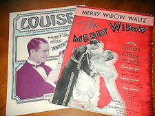 vintage 2 Chavalier music MERRY WIDOW WALTZ & LOUISE Whiting 1907 & 1929