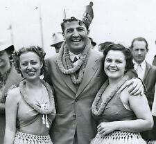VINTAGE 1937 CATALINA CA SWING BAND JURGENS HULA GIRLS PHOTO LOS ANGELES CA