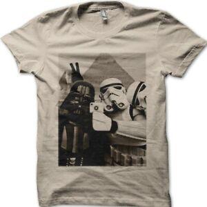 Star Wars StormTrooper Darth Vader Selfie Pyramids Egypt printed t-shirt 9773