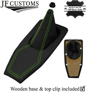 GREEN STITCH REAL LEATHER GEAR BOOT+BASE FRAME KIT FOR TRIUMPH TR7 TR8 76-82