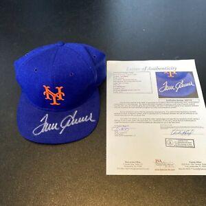 Beautiful Tom Seaver Signed New York Mets Game Model Baseball Hat JSA COA