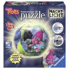 72 teile Ravensburger 3d Puzzle Ball Nachtlicht Trolls 12195