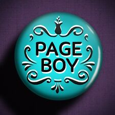 PAGE BOY Pin Badge Button - Wedding Outfit Boys Suit Children Gift Idea Planning