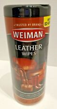 Weiman Leather Conditioning Wipes Furniture Car Shoes Cleaner Polish 30 ct NEW
