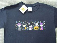 Peanuts Halloween T-Shirt SS Candy 6 Character/Corn Black Kid's/Youth Size Large