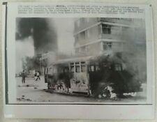 More details for 1969 press wirephoto bus set afire post-demonstrations cordoba argentina