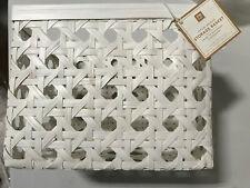 Pottery Barn Open Weave Basket Medium White New