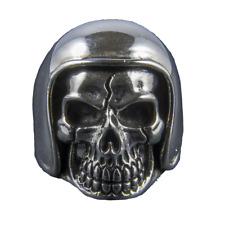 Moto Casque Skull Ring 925 Sterling Argent Metal Gothique feeanddave
