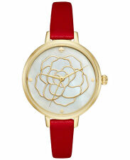 Kate Spade New York Women's Metro Rose Red Leather Watch #ksw1183 –NWT