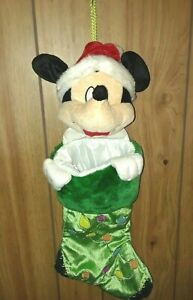 DISNEY Collector Mickey Mouse Plush 3D Santa Christmas Holiday Season Stocking