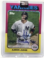 "AARON JUDGE 2021 TOPPS TRIBUTE Baseball AUTOGRAPH ""Happy Birthday Topps""YANKEES"