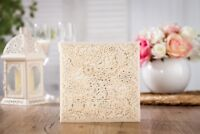 10x Elegant Laser Cut Wedding Invitation Card w/ Free RSVP & Wishing Well Card