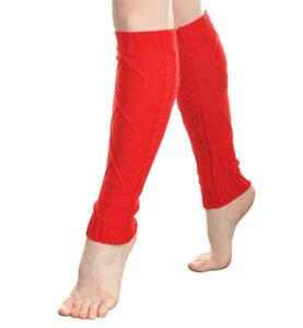 Women Crochet Knit Ribbed Leg Warmers Knee High Solid Winter Boot Soft Sock Long