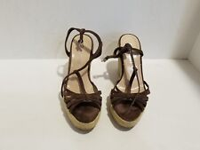 Colin Stuart Womens Brown Suede Wedge Sandals Size 6.5 B