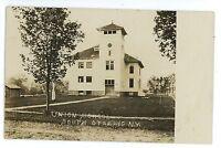 RPPC Union School SOUTH OTSELIC NY Vintage Chenango County Real Photo Postcard