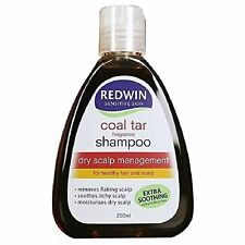 Redwin Coal Tar Shampoo 250ml - PH Balanced Formula Dry Scalp Management