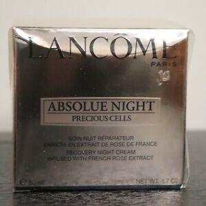 New SEALED Lancome Absolue Night Precious Cells Recovery Night Cream 1.7oz./50ml