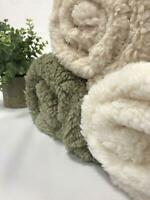 Sherpa Fleece Fluffy Borg Super Soft Faux Fur Fabric 60""
