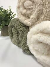 More details for sherpa fleece fluffy borg super soft faux fur fabric 148cm wide
