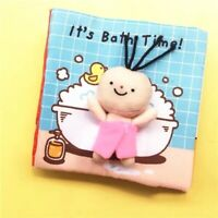 Educational cloth books baby kids fabric books reading It's bath time