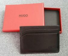 $115 BOSS Hugo Boss Men's Leather WALLET Card Holder BLACK Free Shipping