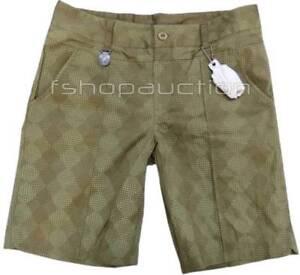 Oakley Grip Shorts Womens Size 4 US Hazel Green Golf Chino Casual Walkshort