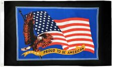 """New listing """"Proud To Be American"""" 3x5 ft flag polyester"""