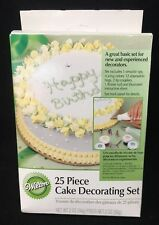 Wilton 25 Piece Cake Decorating Set~Tips/Icing Bags/couplers/flower nail/colors