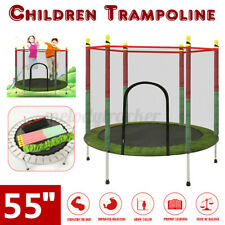 55'' Trampoline With Safety Net Spring Cover Ladder Shoe Bag Rain Cover 4.5FT