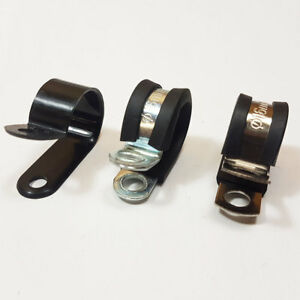 Nylon Plastic Rubber Lined Mild Steel Stainless Steel Metal P Clip Clamp Hose