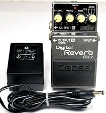 Boss Digital Reverb RV-2 Guitar Effects Pedal with 4 Knobs, with AC Adapter
