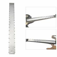 Steel Electrical Guitar Neck Notched Straight Edge Frets Measure Tool Fr