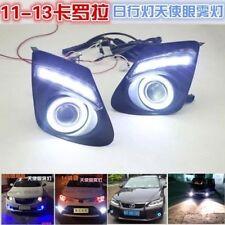 2x LED Daytime Fog Lights Projector angel eye kit For Toyota Corolla 2011-2013
