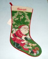 Sferra Christmas Toys Needlepoint Christmas Stocking Monogrammed CAMRON New