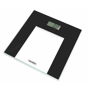 Hanson 150 KG / 24 ST Slim Glass Electronic Bathroom Scales Black Border
