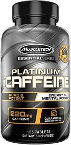 MUSCLETECH  Platinum 100% Caffeine  220 mg  125 Tablets