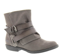 NEW BLOWFISH ALIAS GRAY BOOTIES ANKLE BOOTS WOMENS 7 ZIP SIDE