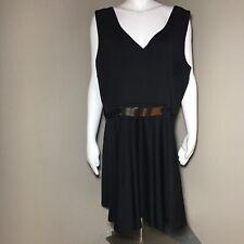 ASOS Curve Women's Dress 18 Plus Size Sleeveless Metal Detailings Black Zipper