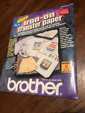Brother ~ TP8 ~  Iron-on Transfer Paper ~ Sealed in package ~